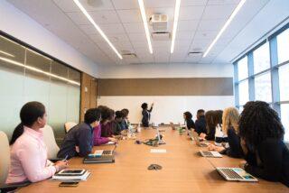Sales training class